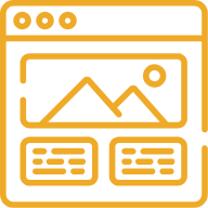 yellow browser icon | Revanista